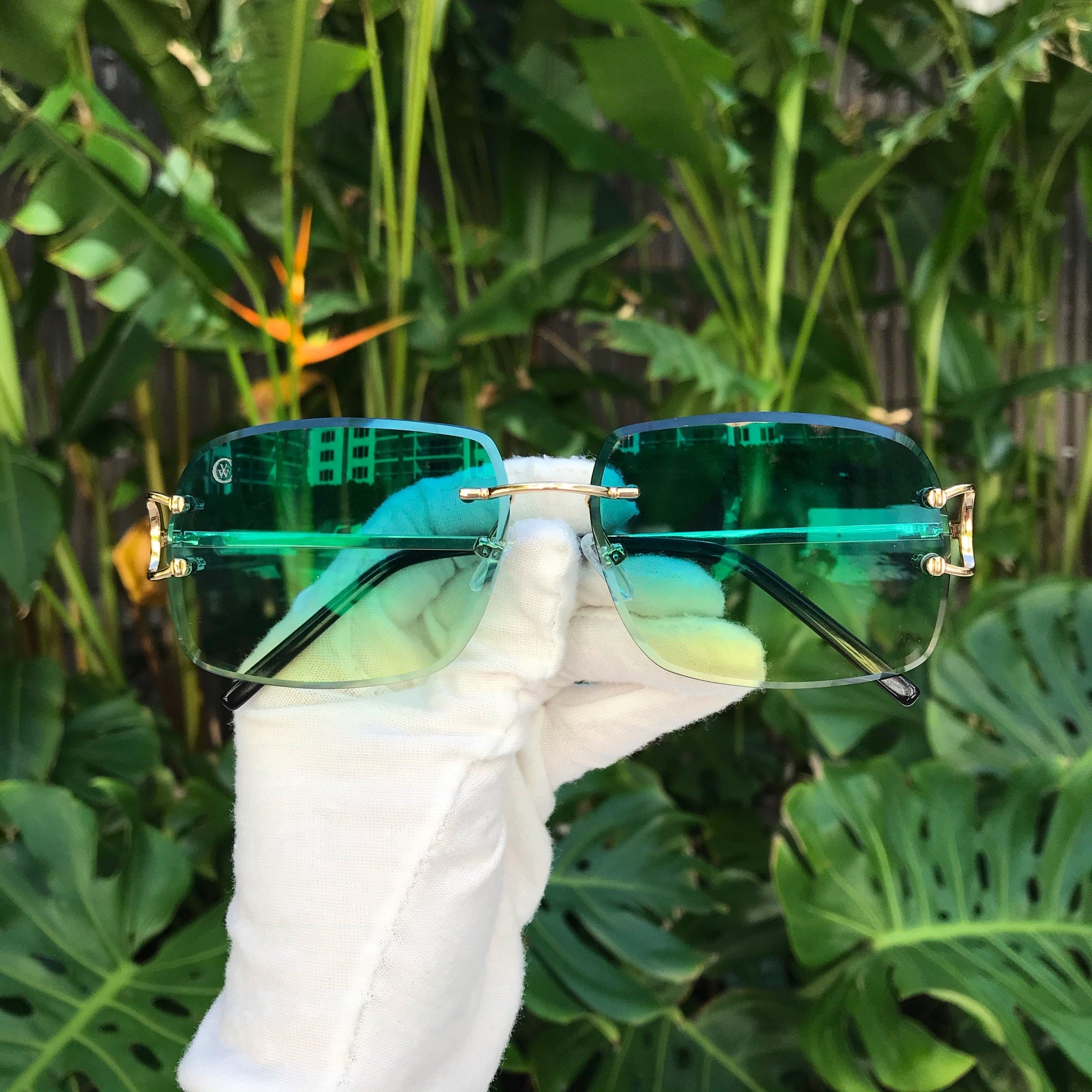 Classic C by VWC 18kt Gold/ Double Gradient Green to Yellow Lenses