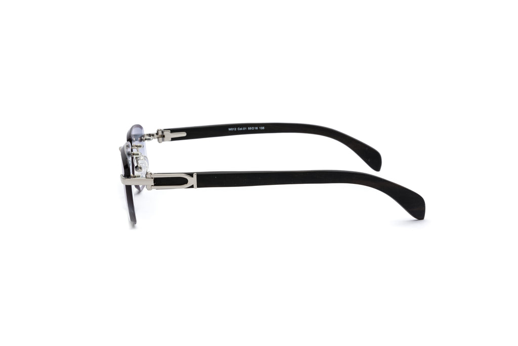 d7b454a5a844 ... cartier style rimless wood sunglasses gradient grey black vintage  frames ...