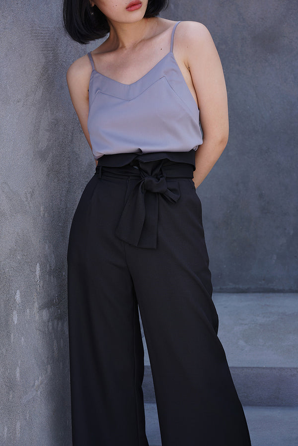 High-Waisted Bud Wide-Pant | Black