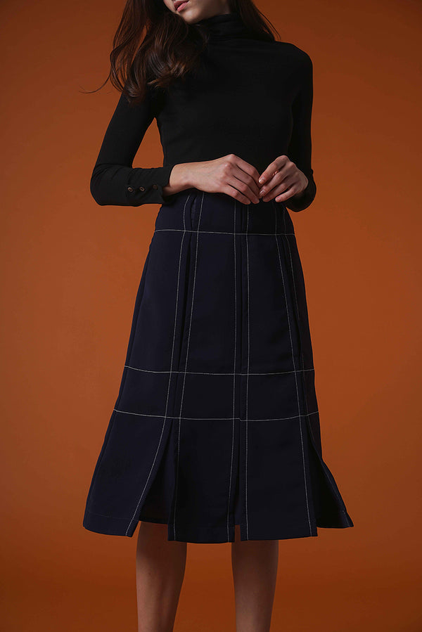 Elegant Pieced Midi Skirt
