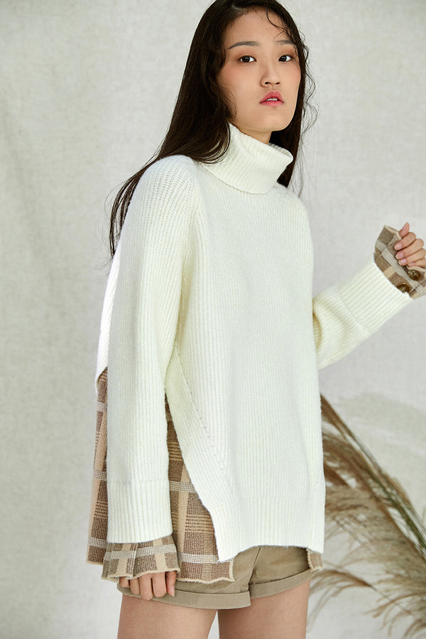 HEMLINE WOOL SWEATER