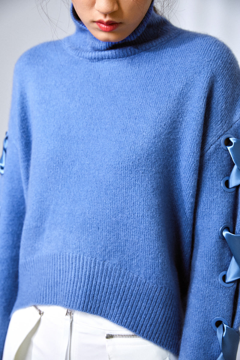 CASHMERE BALLET SWEATER BLUE