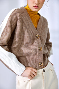 DOUBLE COLOR CARDIGAN