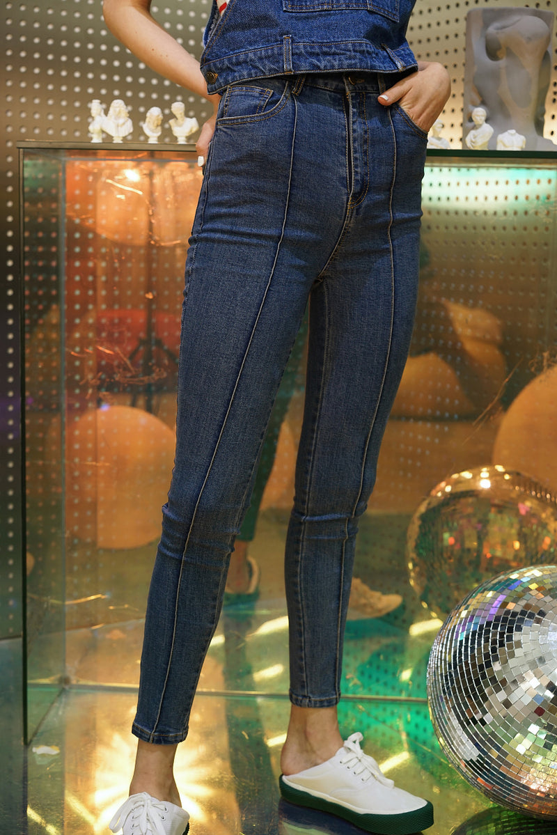 SUPER SKINNY HIGH STRETCHABLE JEANS BLUE