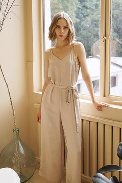 METALLIC SILKY JUMPSUIT