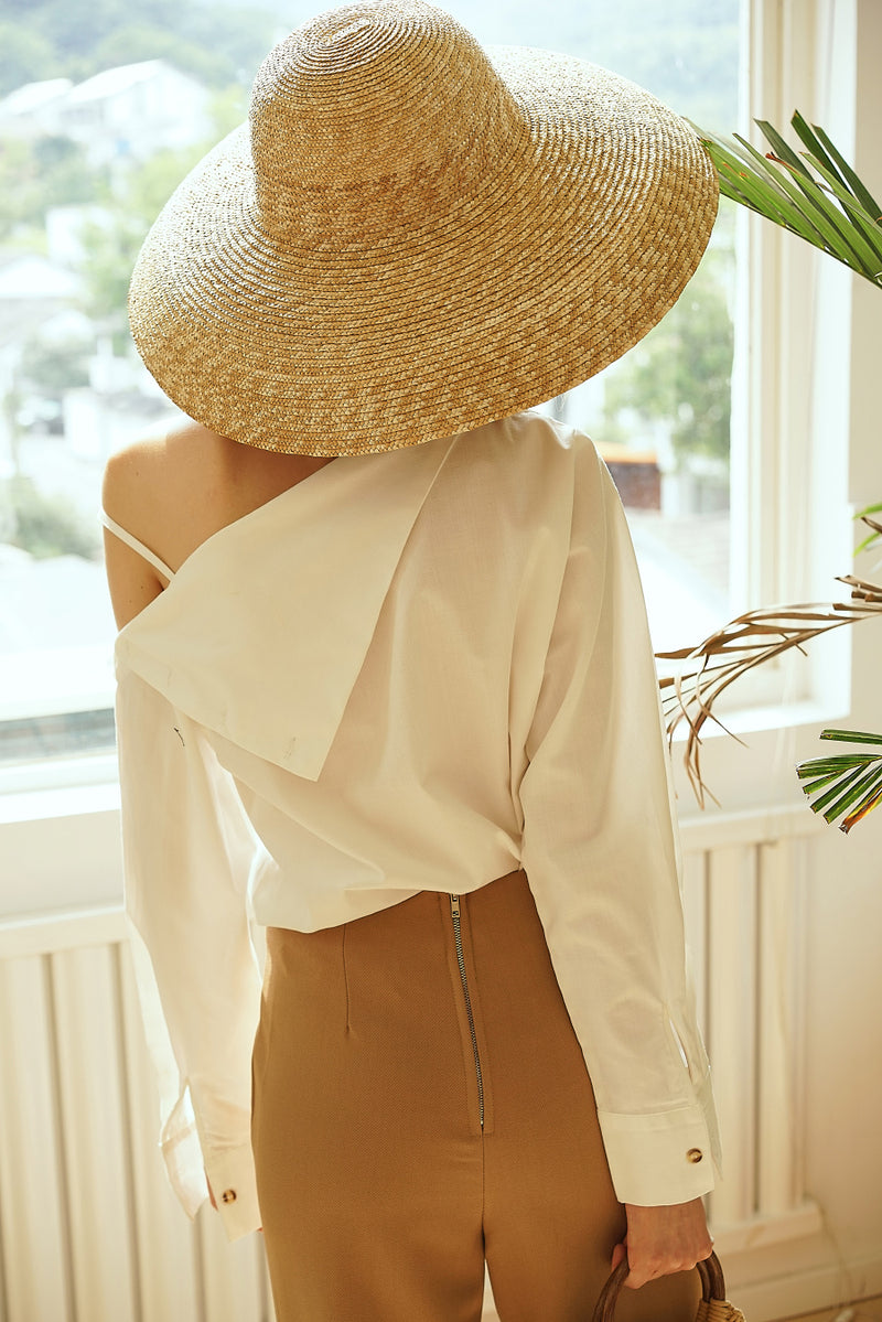 Asymmetric Blouse White