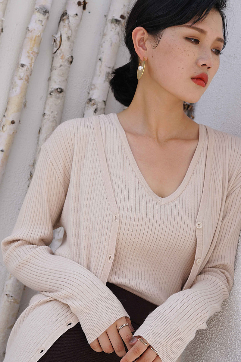 Two Pieces Knit Set