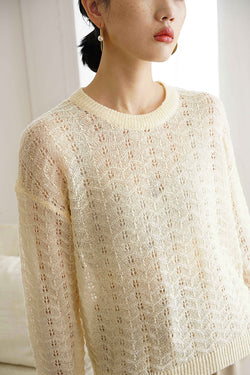 See Through Crochet Smock Knit