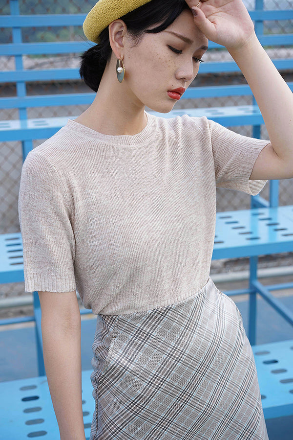 Soft Touch Knit Top | Oatmeal