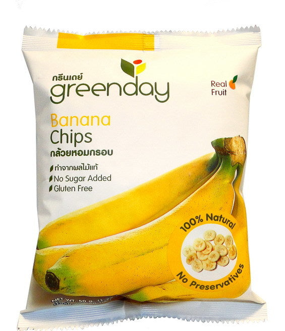 Greenday Banana Chips - 12 bags (50 grams)