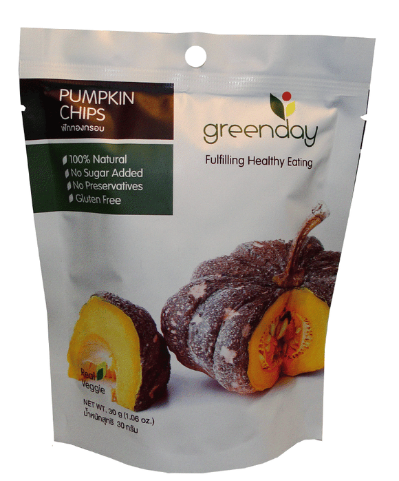 Variety Pack Greenday Pumpkin & Onion Chips - 12 bags (30 grams)