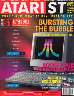 Pentacalc featured in atari magazine