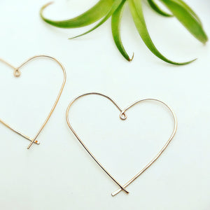 Classic Heart Hoop Earrings Large