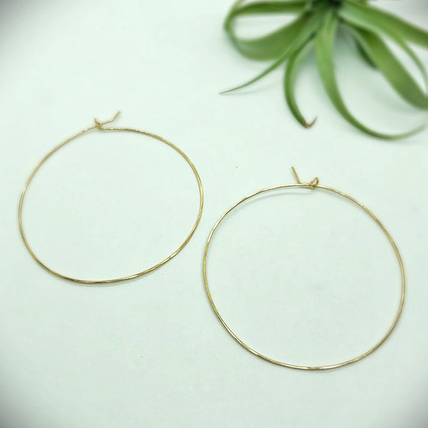 Classic Butterfly Hoop Earrings
