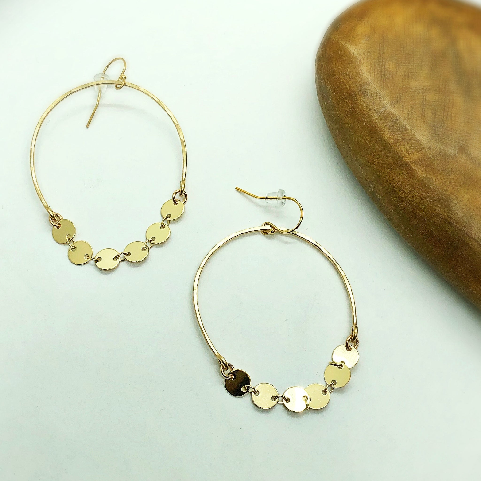 Shimmer Coin Hoop Earrings