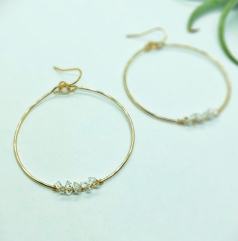 Salt Water Hoop Earrings