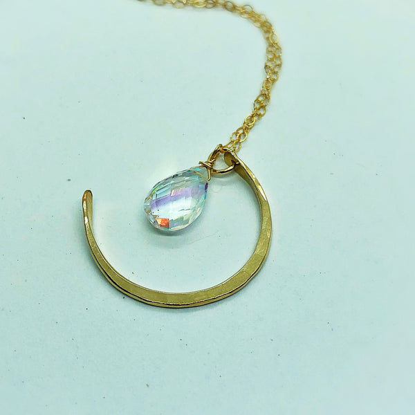 Sparkle Moon Necklace