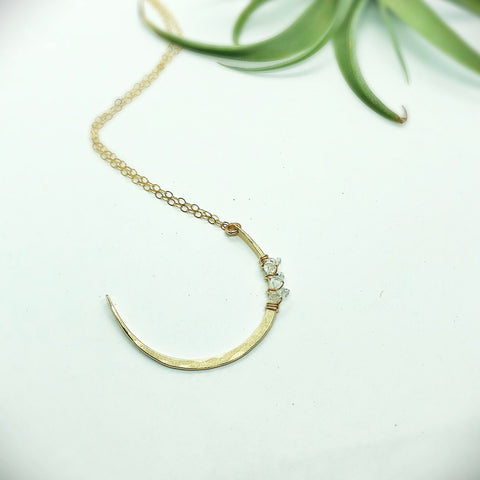 Salt Water Moon Necklace