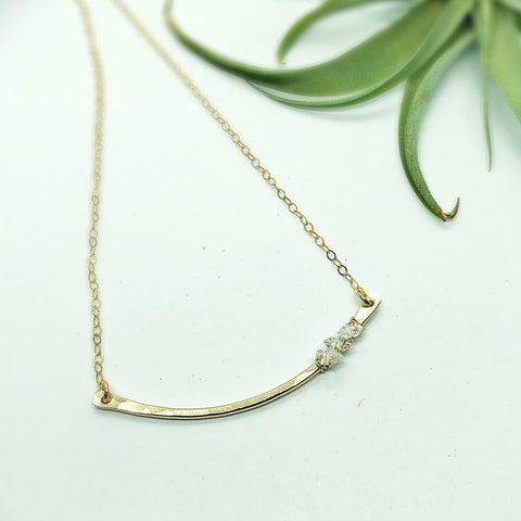 Salt Water Curved Bar Necklace
