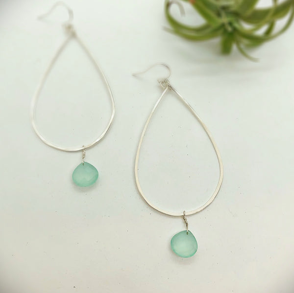Large Raindrop Hoops