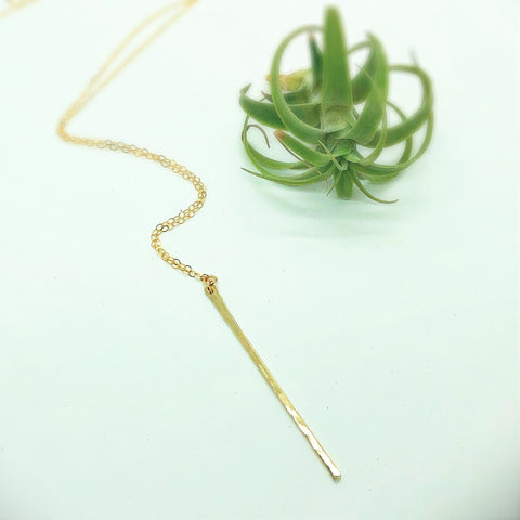 Classic Skinny Bar Necklace