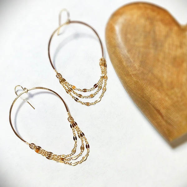 Farrah Chain Hoop Earrings