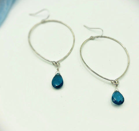 Davenport Upside Down Hoop Earrings