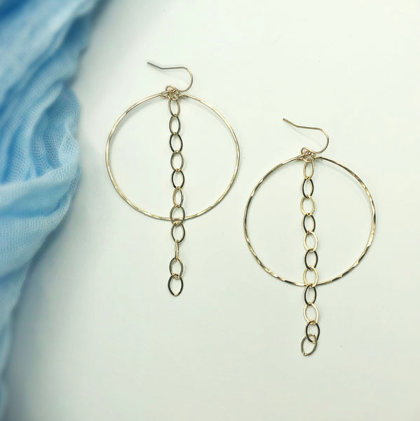 Charlie Chain Hoop Earrings