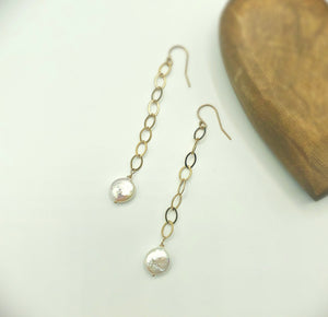 Charlie White Pearl Drop Earrings
