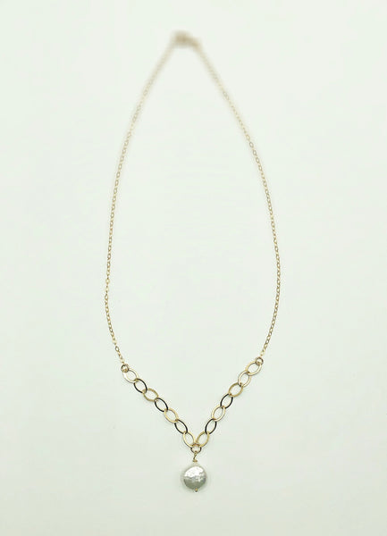 Charlie Chain White Pearl Necklace