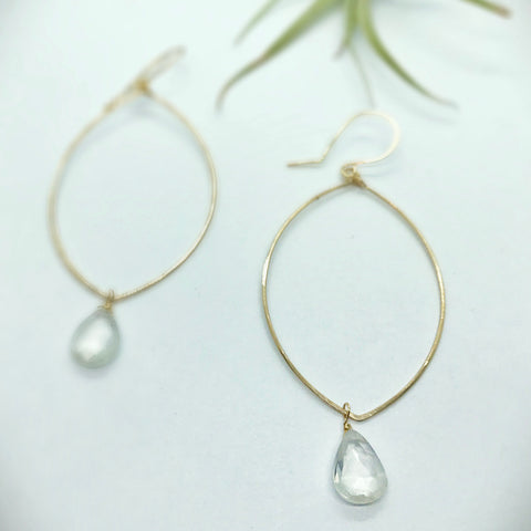 Sparkle Misty Hoop Earrings