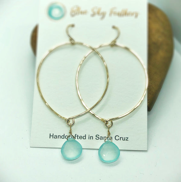 Blue Sky Basic Hoop Earrings