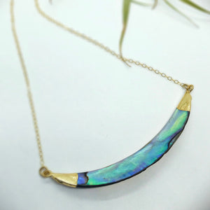Abalone Curved Bar Necklace