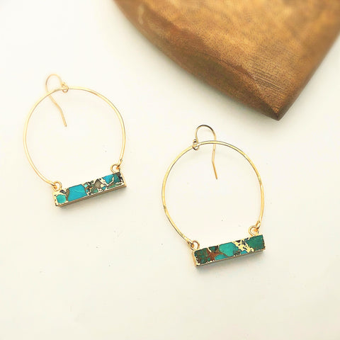 Turtle Bay Hoop Earrings