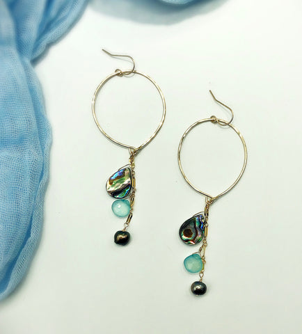 Malibu Beach Hoop Earrings