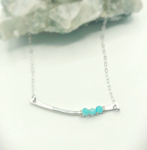 Amazon Rain Curved Bar Necklace