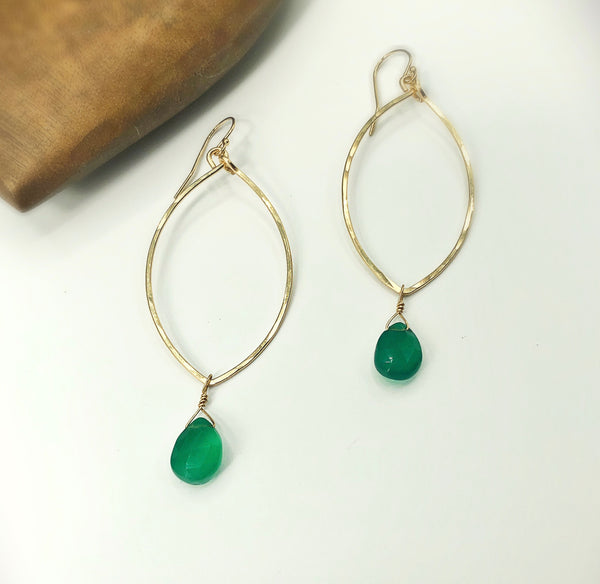 Emerald Bay Teardrop Hoop Earrings