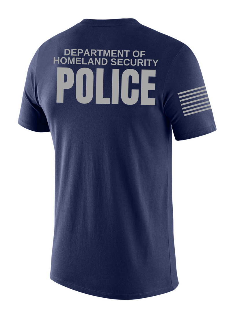 SUBDUED DHS POLICE Agency Identifier T Shirt - Short Sleeve - FEDS Apparel