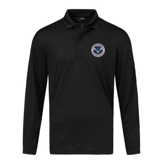 TACTICAL Dept of Homeland Security Polo- Men's Long Sleeve - FEDS Apparel