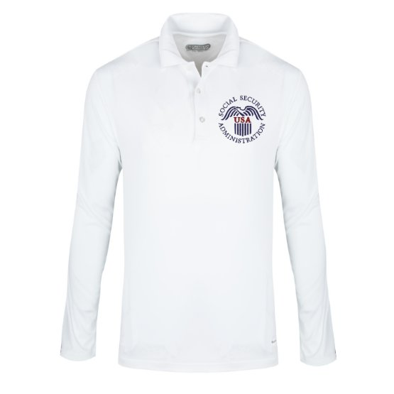 Social Security Administration Polo Shirt - Men's Long Sleeve - FEDS Apparel