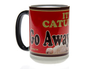 It's Caturday Red Grumpy Cat Magic Mug