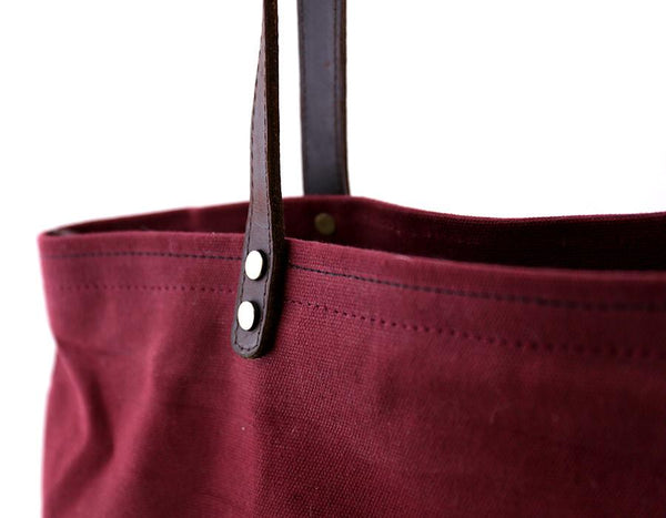 Foxtail Goods - Market Tote Bag - Wine