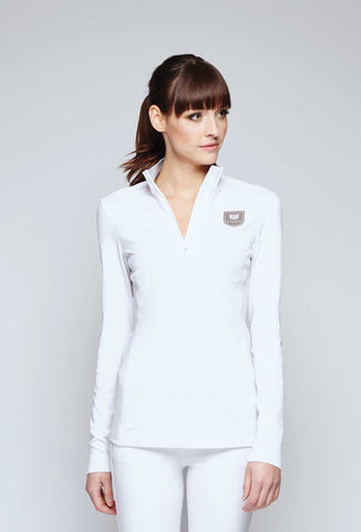 Rue 1/4 Zip Up White