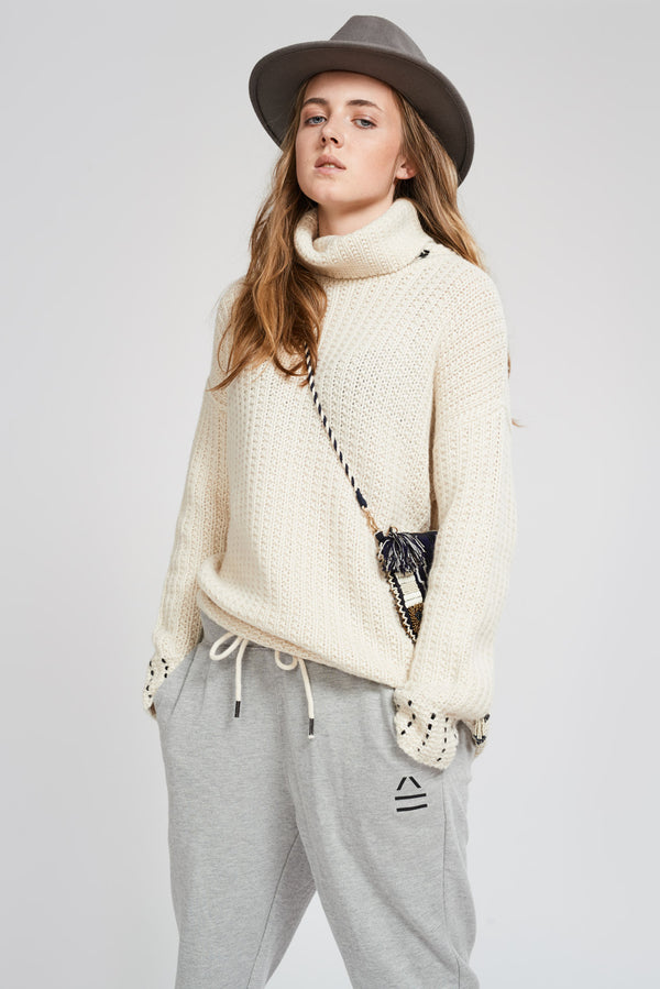 Alexa Fairchild White Star Sweater