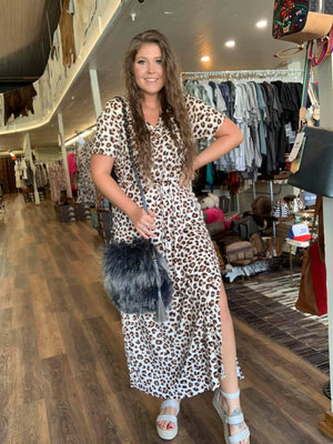 Leopard Tshirt Maxi Dress