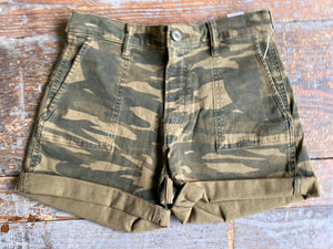 Lucky Brand Camo Cuffed Shorts