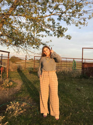 Paper Bag Plaid pants