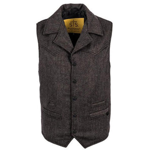 The Gambler Vest (black tweed)