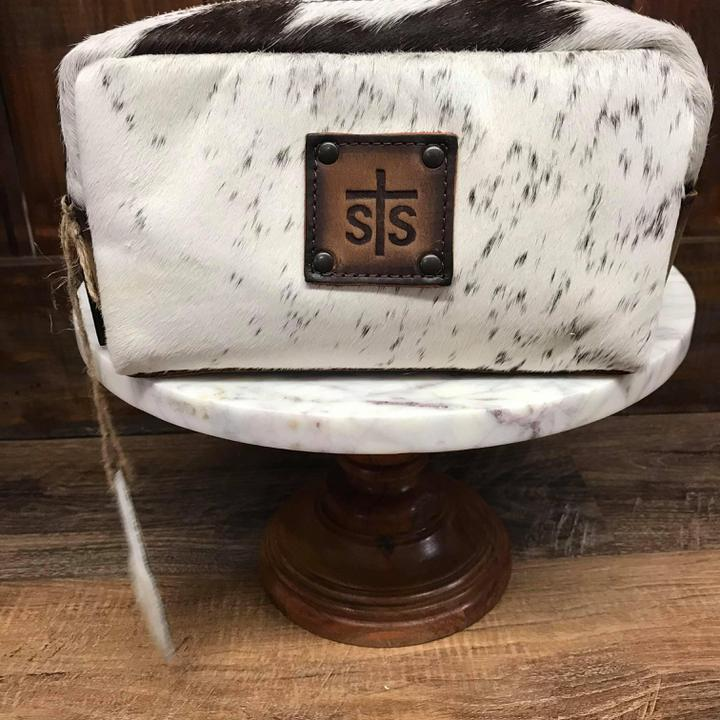 Cowhide bebe bag white sts