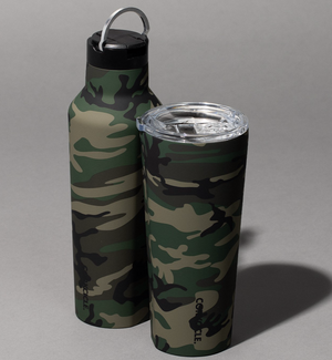 Corkcicle Woodland Camo Tumbler and Canteen